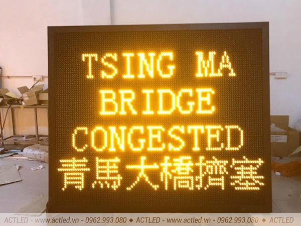 Biển quảng cáo LED P10 vàng